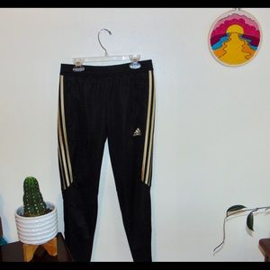 Adidas Track Pants - Gold Stripe